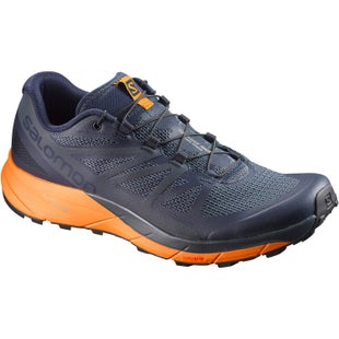 Salomon Sense Ride Trail Shoes - Navy Blaze Bright Marigold Ombre