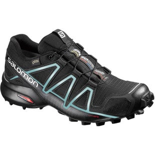 Salomon Speedcross 4 GTX Womens Trail Shoes - Black Black Metallic