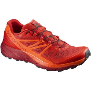Salomon Sense Ride Trail Shoes - Fiery Red Scarlet Ibis Red Dahlia