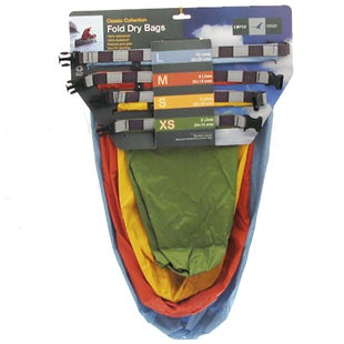 Exped Fold Dry 4 Pack Drybag - Classic Assorted