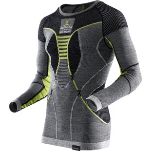 X-Bionic Fast Flow Shirt LS Base Layer - Black Grey Yellow