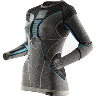 X-Bionic Fast Flow Shirt LS Womens Base Layer - Black Grey Turquoise