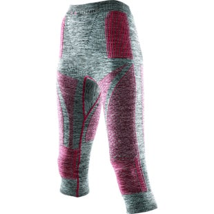 X-Bionic Energy Accumulator EVO Melange Medium Womens Baselayer Bottoms - Light Grey Melange Raspberry