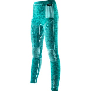 X-Bionic Energy Accumulator EVO Melange Long Womens Baselayer Bottoms - Lake Blue Melange White