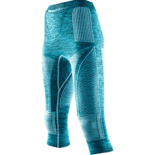 X-Bionic Energy Accumulator EVO Melange Medium Womens Baselayer Bottoms - Lake Blue Melange White