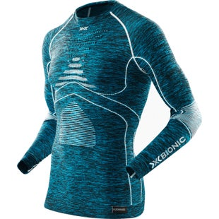 X-Bionic Energy Accumulator EVO Melange Base Layer - Blue Melange White