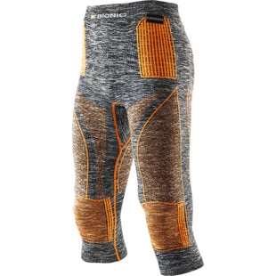 X-Bionic Energy Accumulator EVO Melange Medium Baselayer Bottoms - Grey Melange Orange