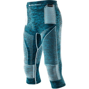 X-Bionic Energy Accumulator EVO Melange Medium Baselayer Bottoms - Blue Melange White