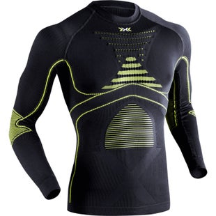 X-Bionic Evo Long Sleeve Round Neck Base Layer - Green Lime Charcoal
