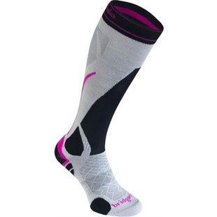 Bridgedale Vertige Light Womens Snow Socks - Silver Black