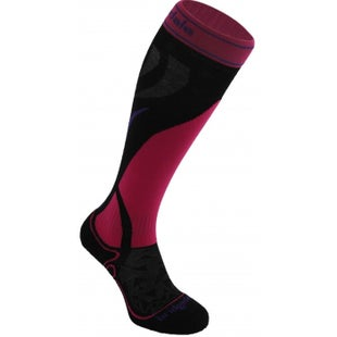 Bridgedale Vertige Mid Womens Snow Socks - Black Fluoro Pink
