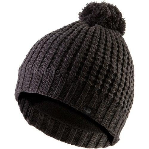 Sealskinz Waterproof Waffle Knit Bobble Beanie - Grey