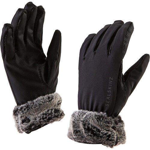 Sealskinz Sea Leopard Lux Womens Gloves - Black Grey