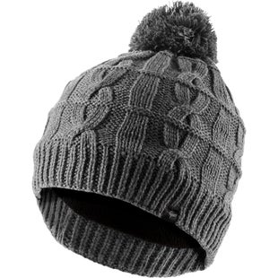 Sealskinz Waterproof Cable Knit Bobble Beanie - Grey Marl