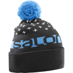Salomon Free Beanie - Black Hawaiian Surf White