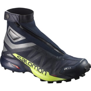 Salomon SnowCross 2 CSWP Trail Shoes - Navy Blazer Reflective Silver Lime Punch
