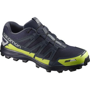 Salomon SpeedSpike CS Trail Shoes - Navy Blazer Reflective Silver Lime Punch