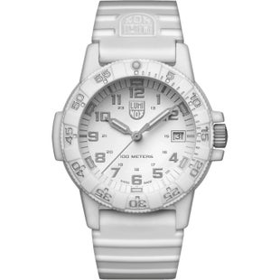 Luminox Leatherback Sea Turtle 0307WO Watch - Whiteout White w PU strap