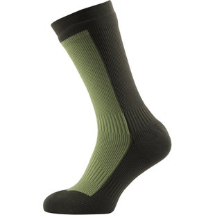 Sealskinz Hiking Mid Mid Outdoor Socks - Golden Moss Dark Olive