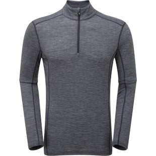 Montane Primino 140 Zip Neck Base Layer - Black