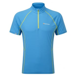 Montane Sonic Zip SS Base Layer - Blue Spark