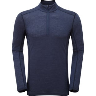 Montane Primino 140 Zip Neck Base Layer - Antarctic Blue