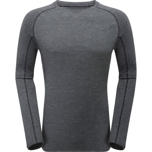 Montane Primino 220 Long Sleeve Base Layer - Black