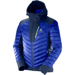Salomon X Alp Hooded Down Jacket - Surf The Web Dress Blues