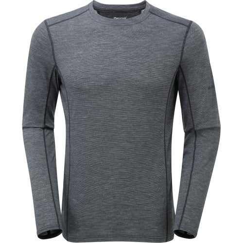 Montane Primino 140 Long Sleeve Base Layer - Black