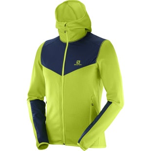 Salomon X Alp FZ Mid Hooded Fleece - Acid Lime