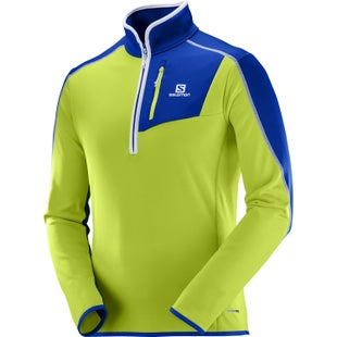Salomon Atlantis Half Zip Fleece - Acid Lime Surf The Web