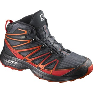 Salomon X Chase Mid GTX Walking Shoes - India Ink Red Dahlia Black