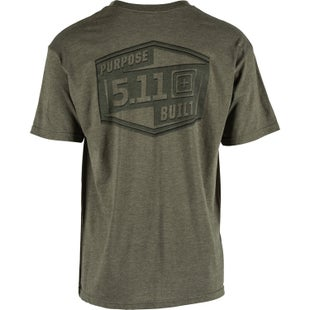 5.11 Tactical Logo Short Sleeve T-Shirt - Purpose Built Military Green Heather