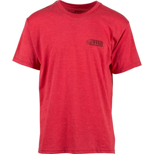5.11 Tactical Logo Short Sleeve T-Shirt - Dragon Red Heather