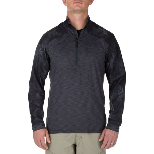 5.11 Tactical Kryptek Rapid Half Zip Long Sleeve Shirt - Charcoal