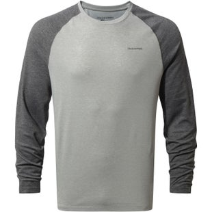 Craghoppers NosiLife Bayame Long Sleeve T Shirt - Black Pepper Soft Grey