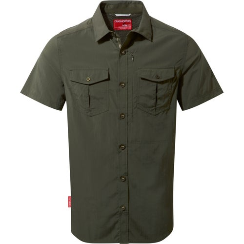 Craghoppers NosiLife Adventure Short Sleeved Shirt - Dark Khaki