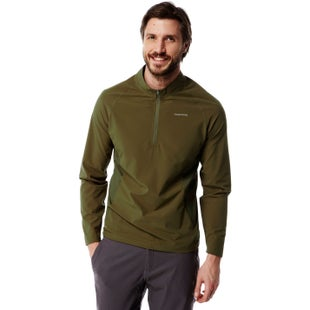 Craghoppers NosiLife Active Half Zip Long Sleeve T Shirt - Dark Moss