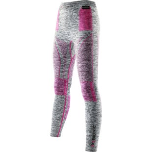X-Bionic Energy Accumulator EVO Melange Long Womens Baselayer Bottoms - Light Grey Melange Raspberry