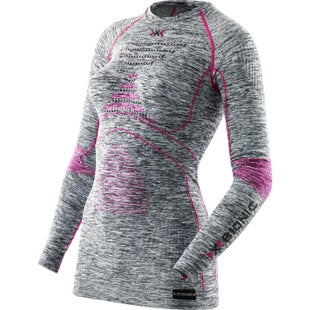 X-Bionic Energy Accumulator EVO Melange Womens Base Layer - Light Grey Melange Raspberry