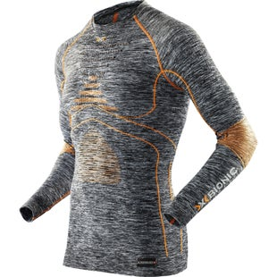 X-Bionic Energy Accumulator EVO Melange Base Layer - Grey Melange Orange