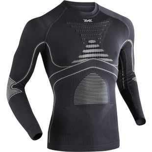 X-Bionic Evo Long Sleeve Round Neck Base Layer - Charcoal Pearl Grey