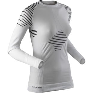 X-Bionic Invent LS Womens Base Layer - White Black