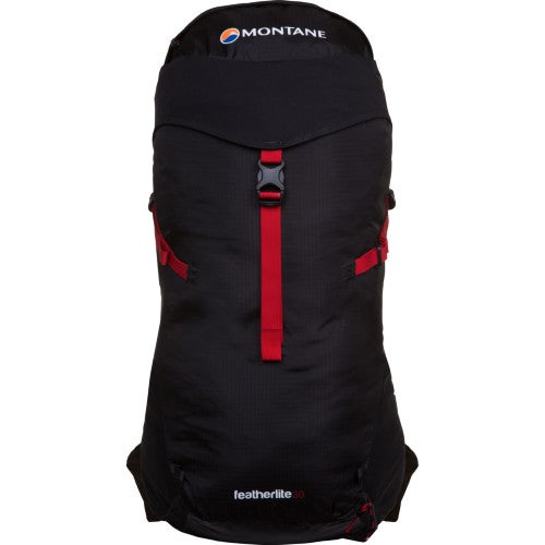 Montane Featherlite 30 Hiking Backpack - Black Alpine Red