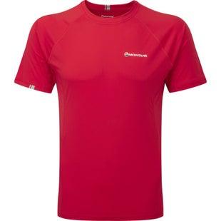 Montane Sonic Short Sleeve Base Layer - Alpine Red