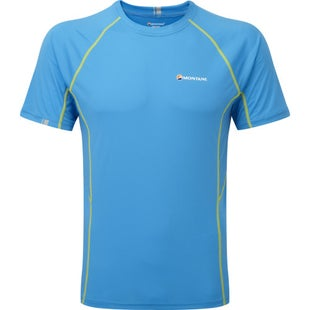 Montane Sonic Short Sleeve Base Layer - Blue Spark Kiwi