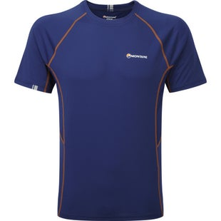 Montane Sonic Short Sleeve Base Layer - Antarctic Blue Tangerine