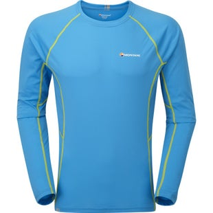 Montane Sonic Long Sleeve Base Layer - Blue Spark