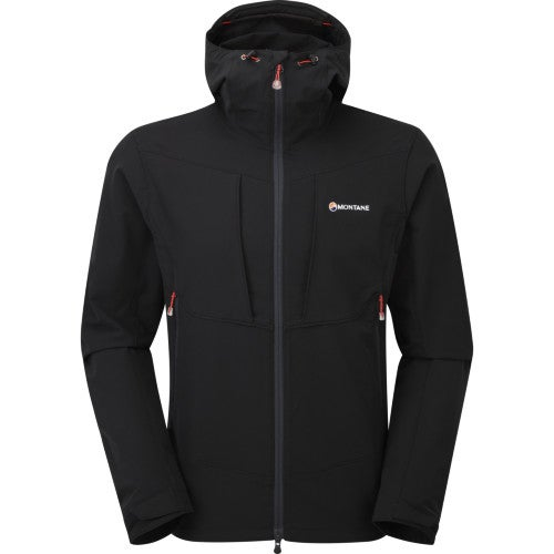 Montane Dyno Stretch Softshell Jacket - Black Alpine Red
