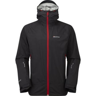 Montane Atomic Jacket - Black Alpine Red